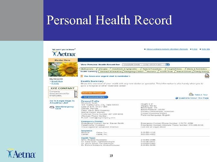 Personal Health Record 19