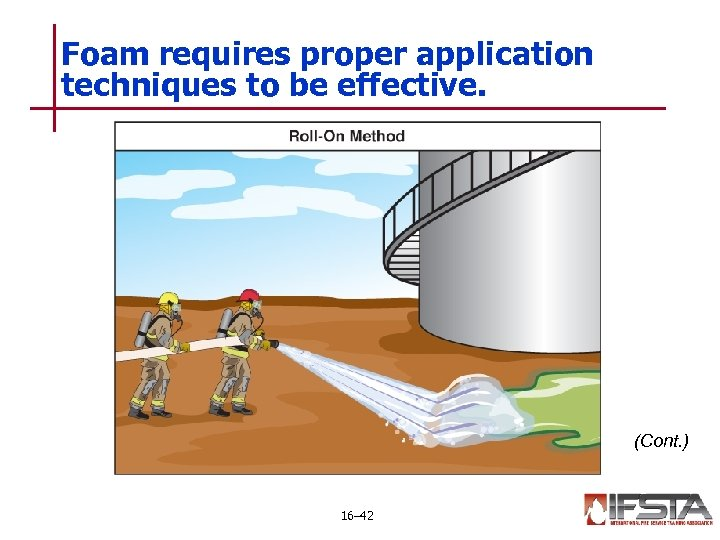 Foam requires proper application techniques to be effective. (Cont. ) 16– 42