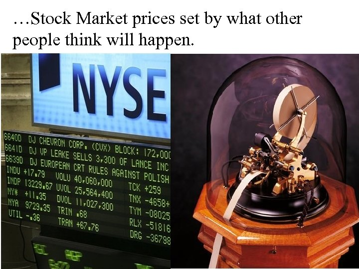 …Stock Market prices set by what other people think will happen.