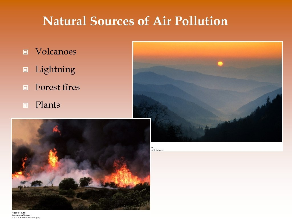 Natural Sources of Air Pollution © Volcanoes © Lightning © Forest fires © Plants