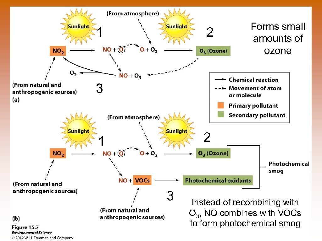 1 2 Forms small amounts of ozone 3 2 1 3 Instead of recombining