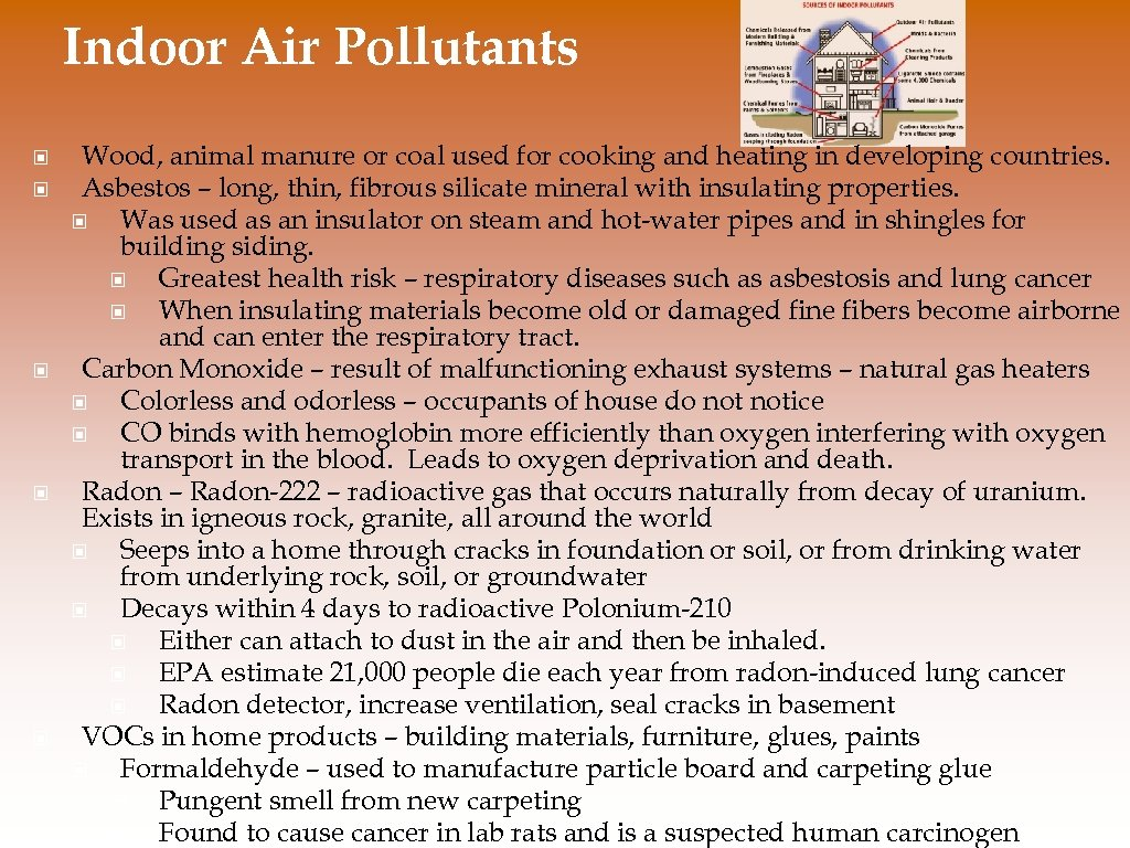 Indoor Air Pollutants © © © Wood, animal manure or coal used for cooking