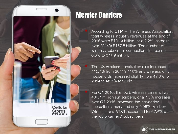 Merrier Carriers § According to CTIA – The Wireless Association, total wireless industry revenues