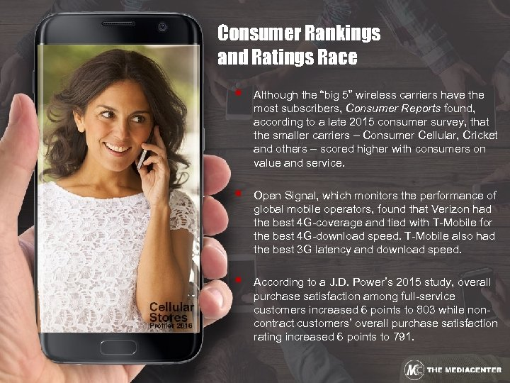 """Consumer Rankings and Ratings Race § Although the """"big 5"""" wireless carriers have the"""