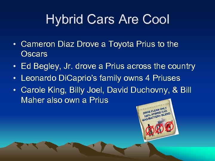 Hybrid Cars Are Cool • Cameron Diaz Drove a Toyota Prius to the Oscars
