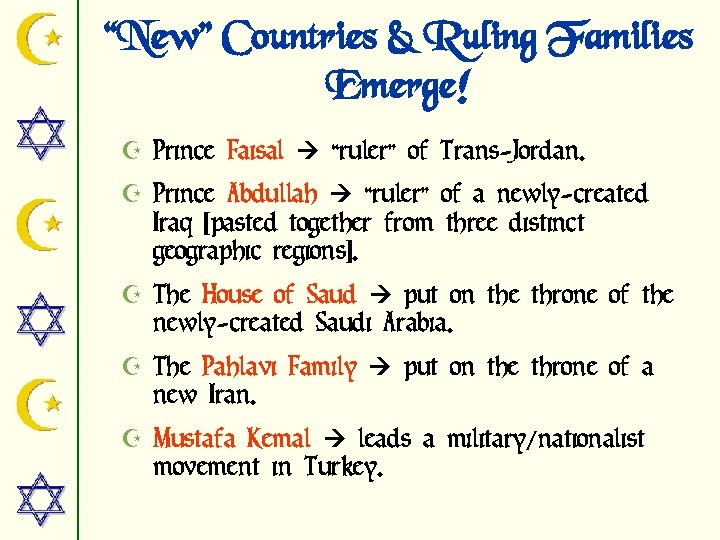 """""""New"""" Countries & Ruling Families Emerge! Z Prince Faisal """"ruler"""" of Trans-Jordan. Z Prince"""