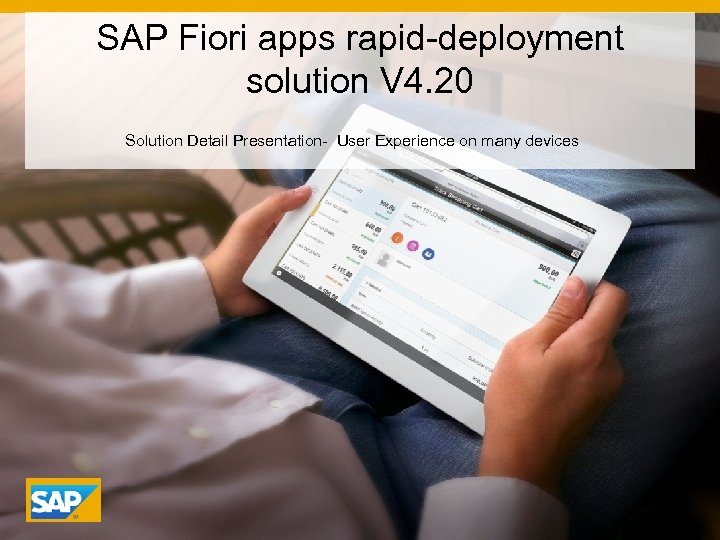 SAP Fiori apps rapid-deployment solution V 4 20