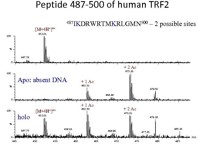 Peptide 487 -500 of human TRF 2 [M+4 H+]4+ 487 IKDRWRTMKRLGMN 500 – 2
