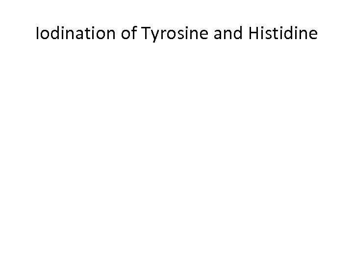 Iodination of Tyrosine and Histidine