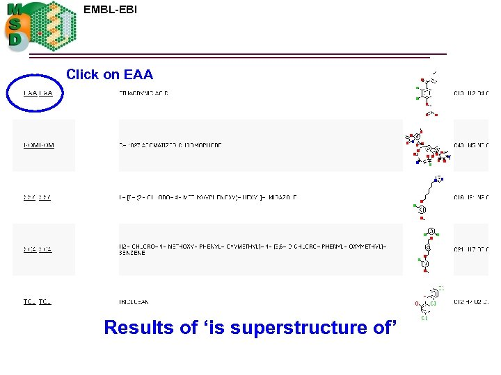 EMBL-EBI Click on EAA Results of 'is superstructure of'
