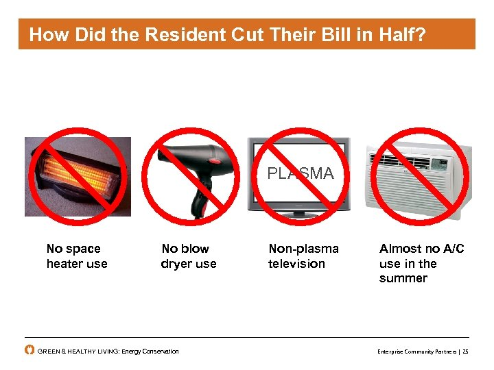 How did the resident cut their bill in in Half? Did the Resident Cut