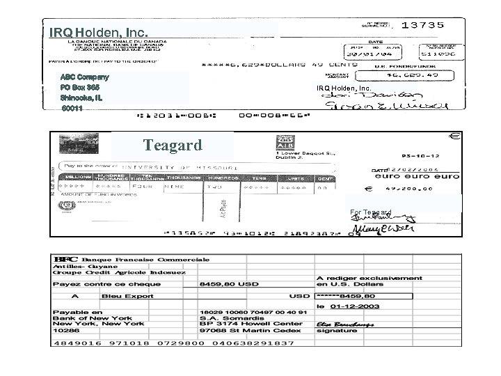 IRQ Holden, Inc. ABC Company PO Box 365 Shinooka, IL 60011 IRQ Holden, Inc.