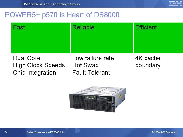 IBM Systems and Technology Group POWER 5+ p 570 is Heart of DS 8000