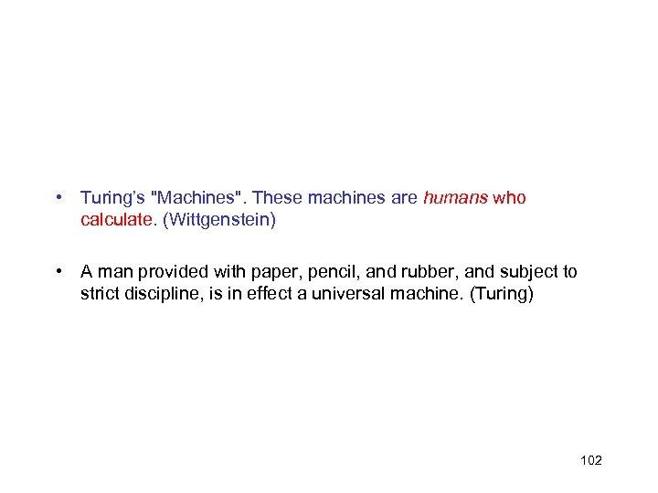 • Turing's