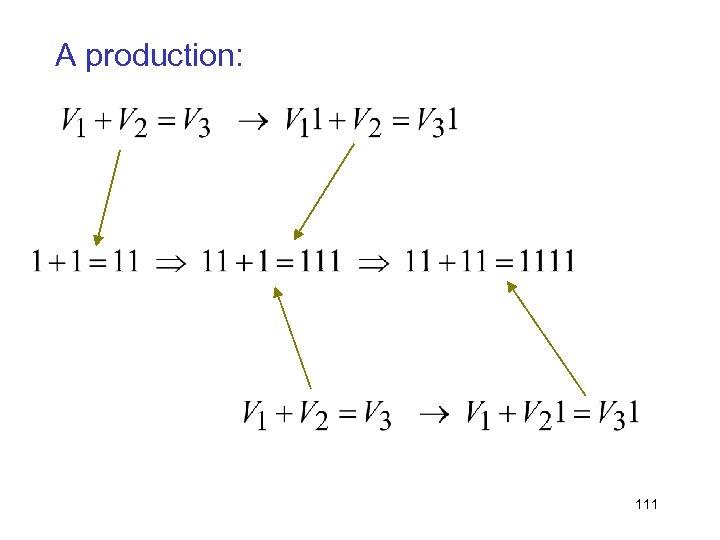 A production: 111