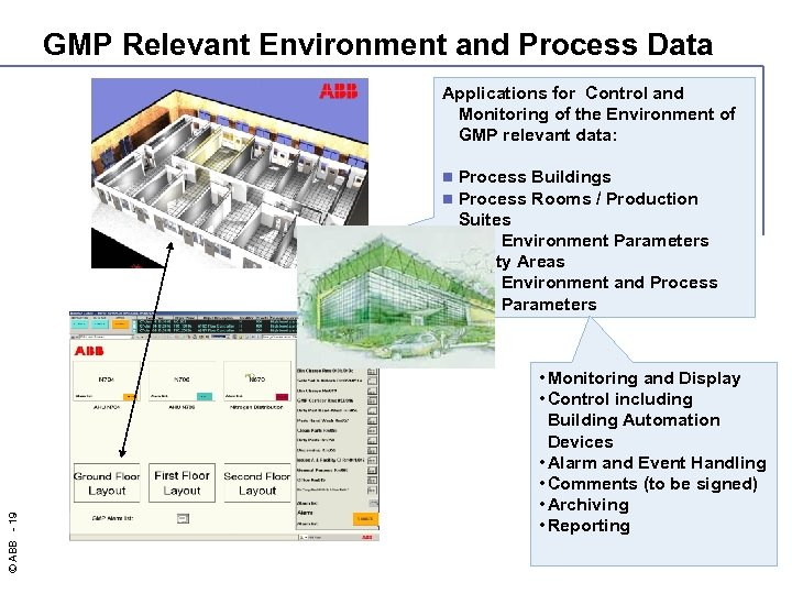 GMP Relevant Environment and Process Data Applications for Control and Monitoring of the Environment