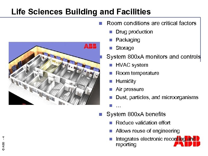 Life Sciences Building and Facilities n Room conditions are critical factors n n Packaging