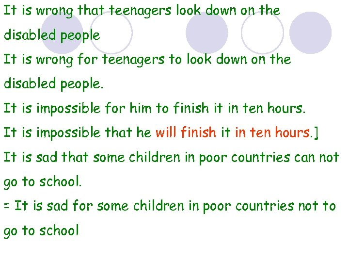 It is wrong that teenagers look down on the disabled people It is wrong
