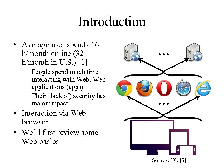 Introduction • Average user spends 16 h/month online (32 h/month in U. S. )