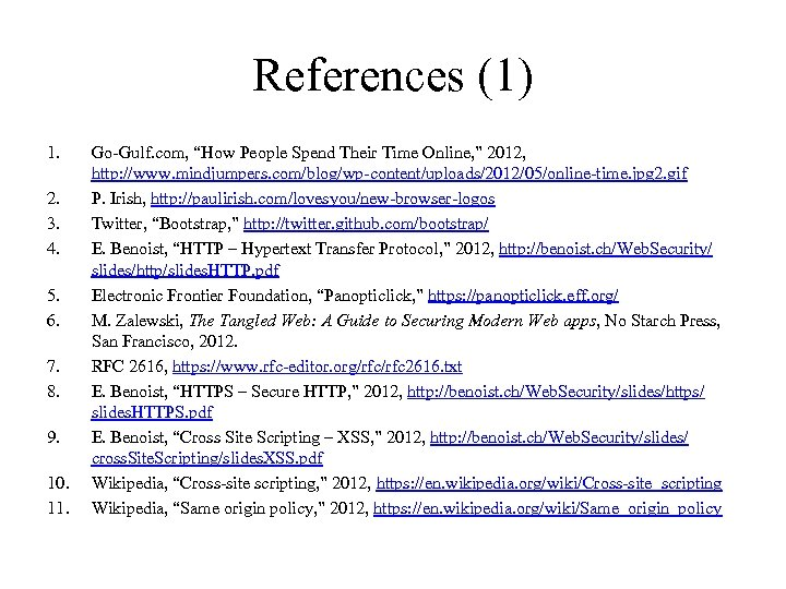 References (1) 1. 2. 3. 4. 5. 6. 7. 8. 9. 10. 11. Go-Gulf.