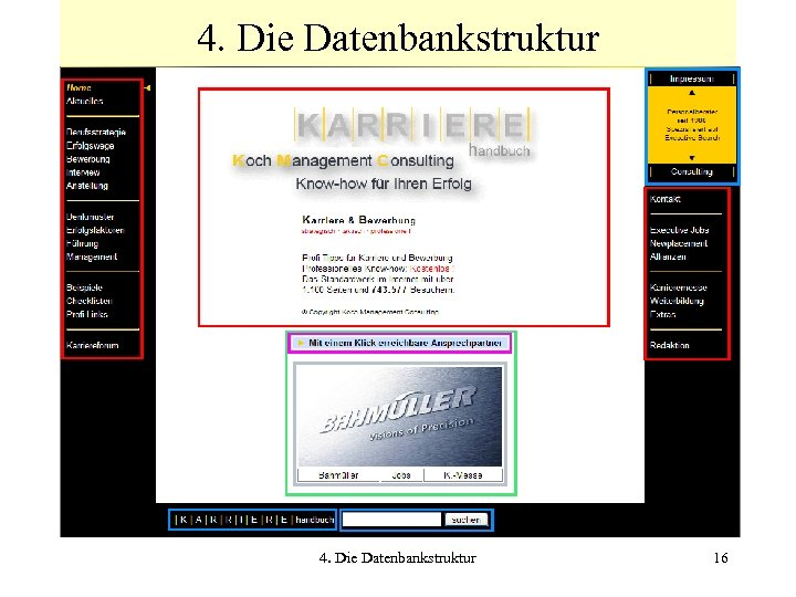 4. Die Datenbankstruktur 16