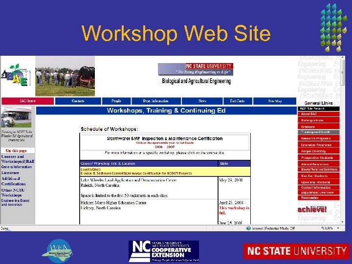 Workshop Web Site