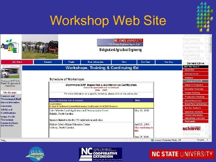 Workshop Web Site