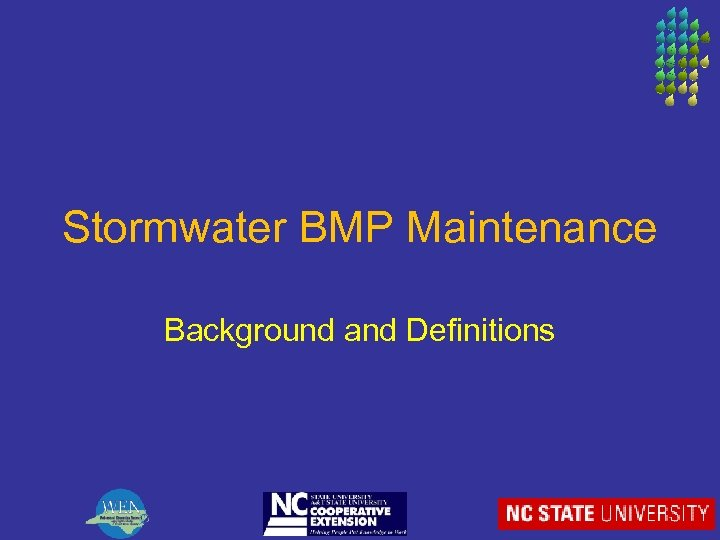 Stormwater BMP Maintenance Background and Definitions
