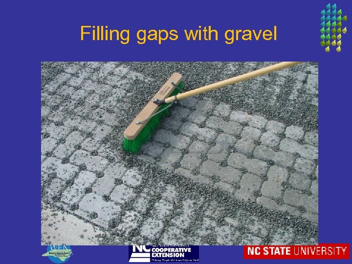 Filling gaps with gravel