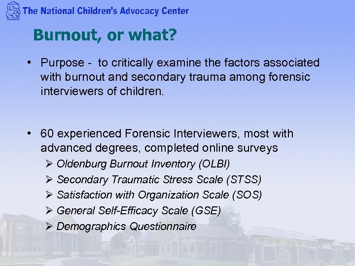Burnout, or what? • Purpose - to critically examine the factors associated with burnout