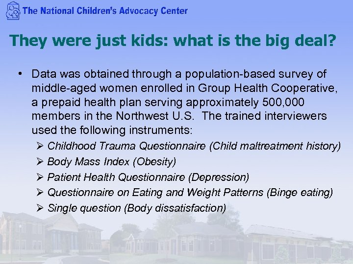 They were just kids: what is the big deal? • Data was obtained through
