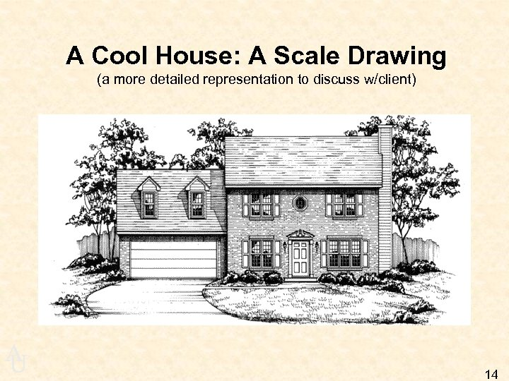 A Cool House: A Scale Drawing (a more detailed representation to discuss w/client) A