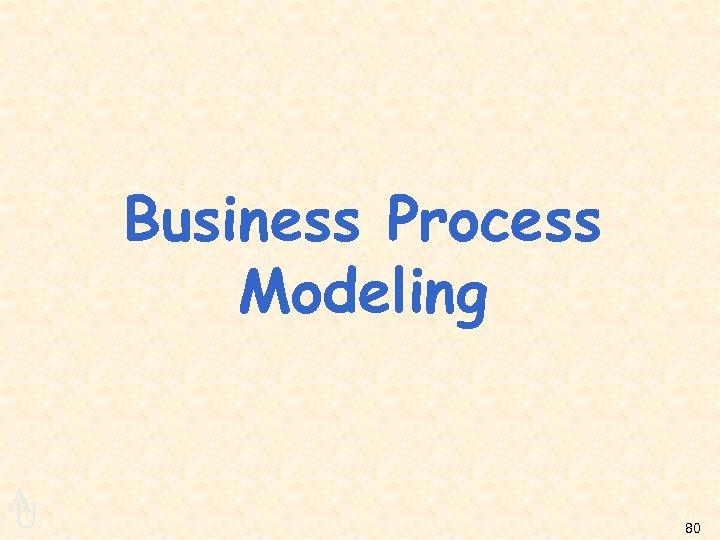 Business Process Modeling A U 80