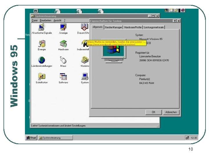 10 Windows 95