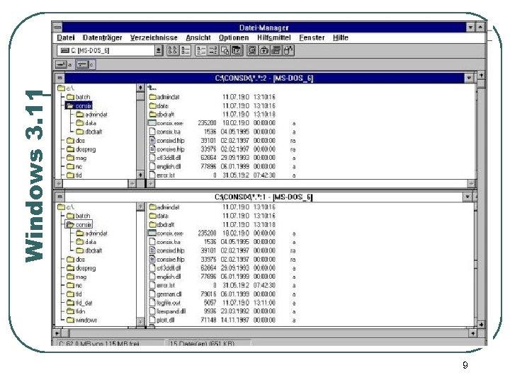 9 Windows 3. 11