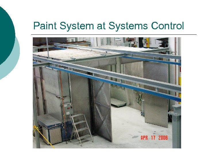 Paint System at Systems Control
