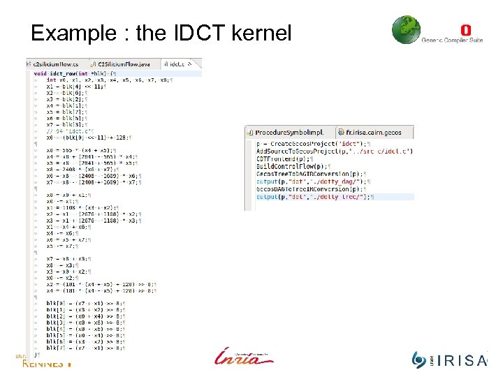 Example : the IDCT kernel