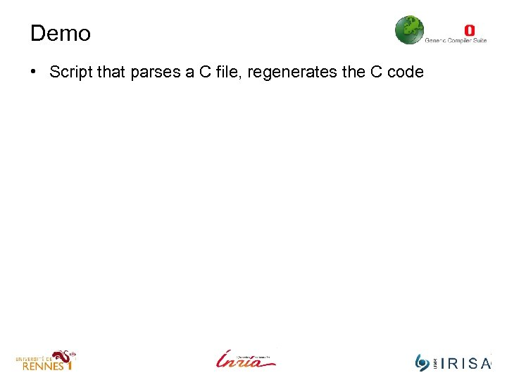 Demo • Script that parses a C file, regenerates the C code