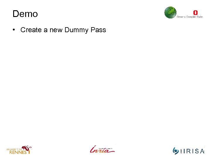 Demo • Create a new Dummy Pass