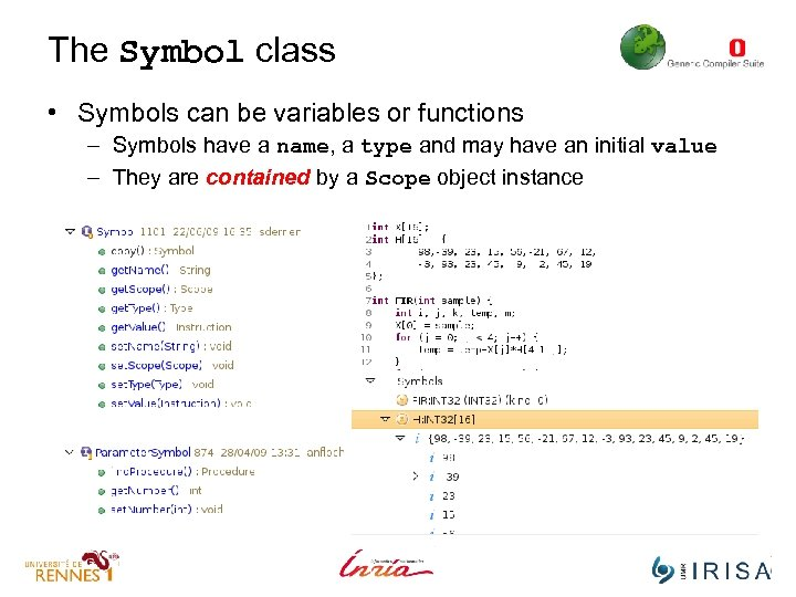 The Symbol class • Symbols can be variables or functions – Symbols have a