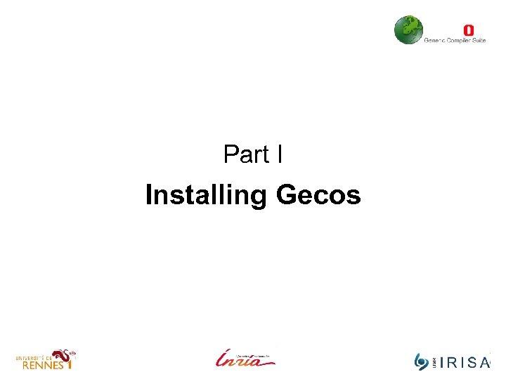 Part I Installing Gecos