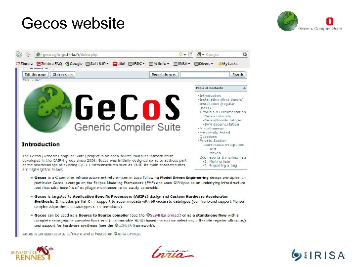 Gecos website