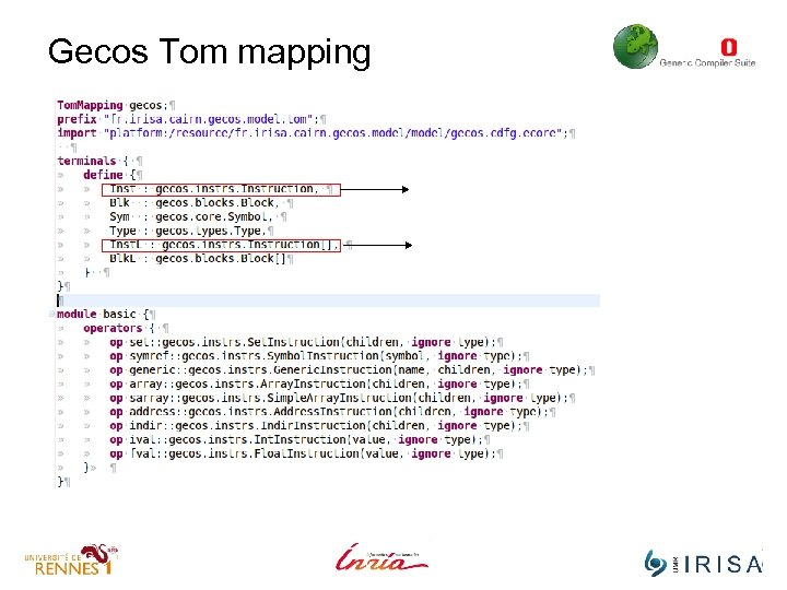 Gecos Tom mapping