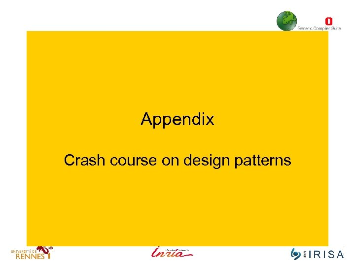 Appendix Crash course on design patterns