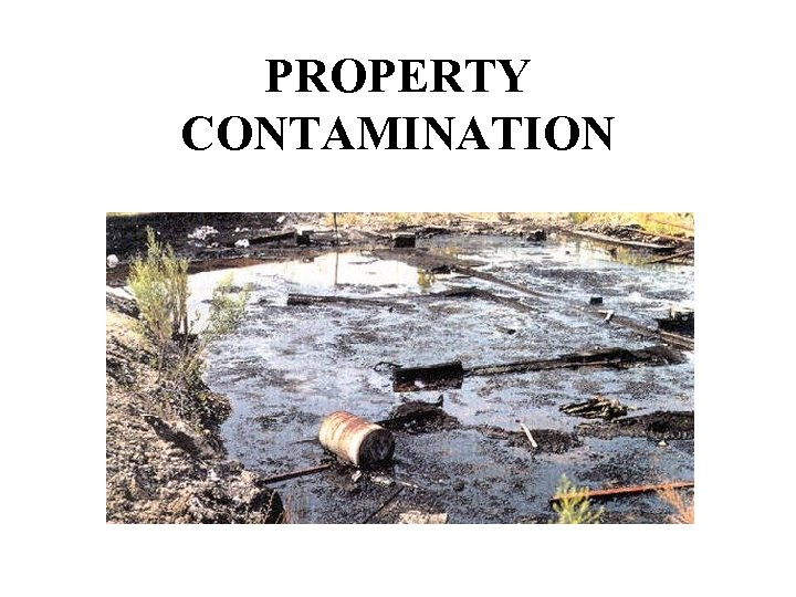PROPERTY CONTAMINATION