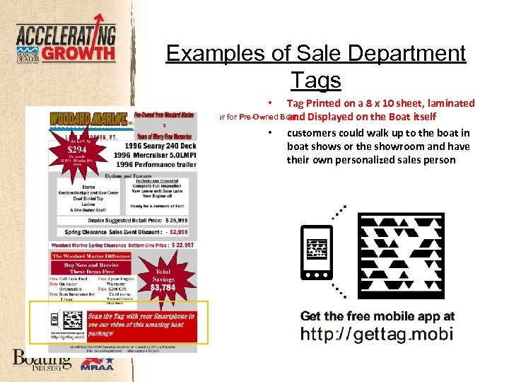 Examples of Sale Department Tags Tag Printed on a 8 x 10 sheet, laminated