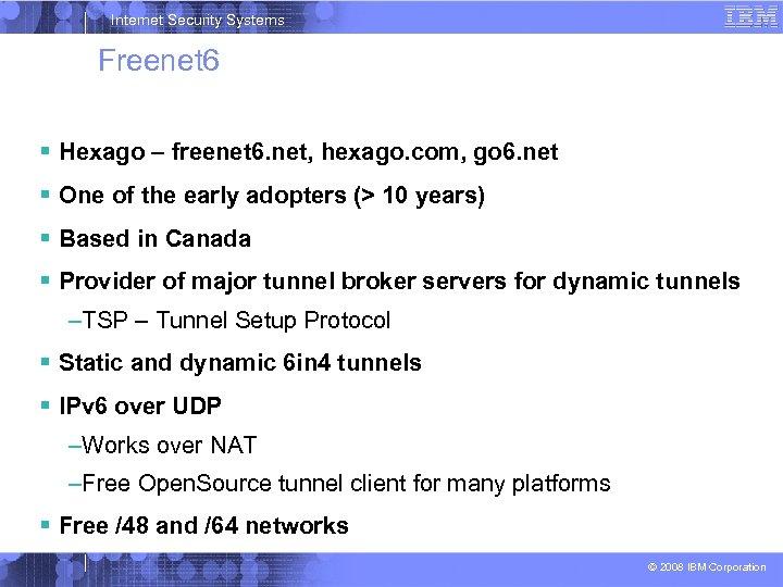 Internet Security Systems Freenet 6 Hexago – freenet 6. net, hexago. com, go 6.