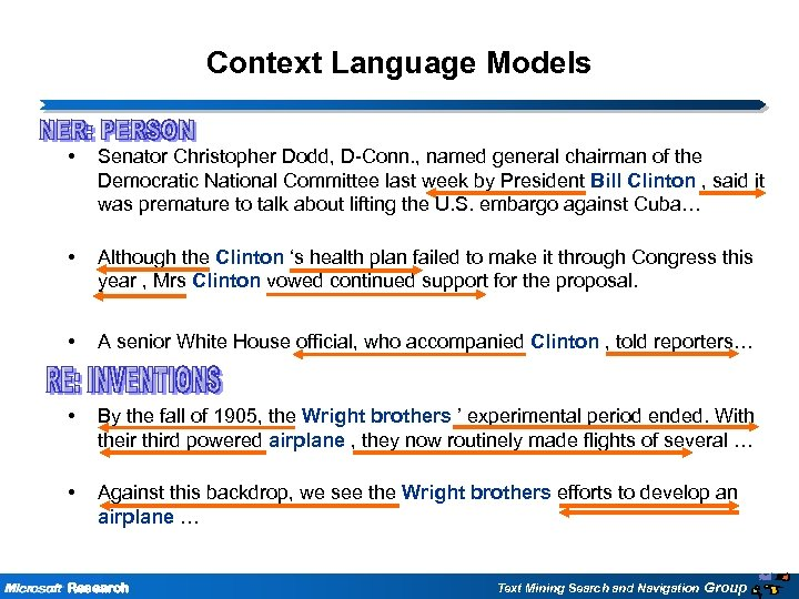 Context Language Models • Senator Christopher Dodd, D-Conn. , named general chairman of the