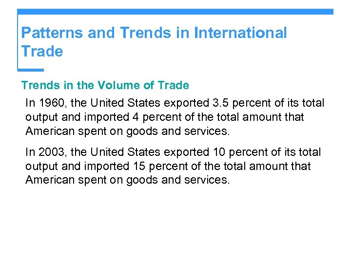 Patterns and Trends in International Trade Trends in the Volume of Trade In 1960,