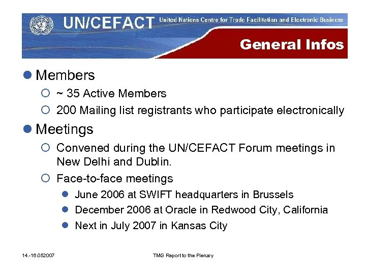 General Infos l Members ¡ ~ 35 Active Members ¡ 200 Mailing list registrants